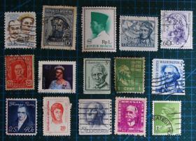 外国邮票-----人物22(信销票)