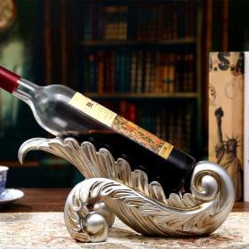 红酒架摆件树叶酒夹