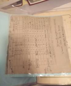 1949年,平遥县后勤指挥部供给花名册