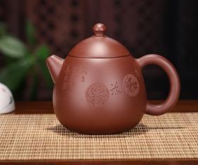 【正品保证】宜兴紫砂壶名家实力派艺人手工功夫茶壶龙蛋壶