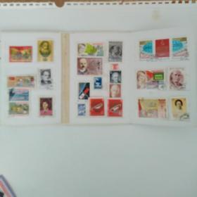 外国邮册邮票。25个。