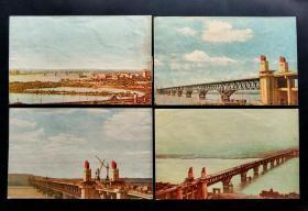 【星星藏苑】文革美术信封:南京长江大桥美术封新4枚
