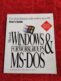 Users Guide Microsoft Windows for Workgroups MS-DOS