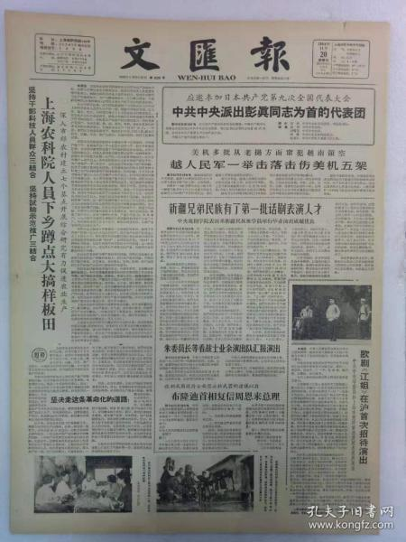 《文汇报》第6239号1964年11月20日老报纸