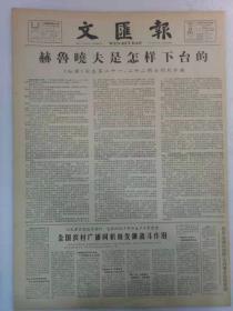 《文汇报》第6240号1964年11月21日老报纸