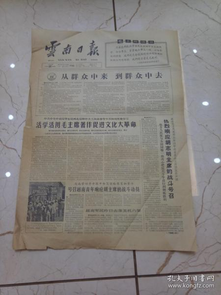 云南日报1966年7月