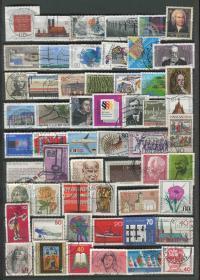 德国邮票 信销 56枚 X297