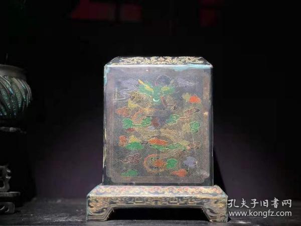 漆器 木胎漆器印章盒 B