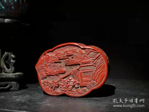 漆器 剔红漆器首饰盒 B