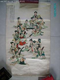 年画-蜀宫乐伎  (对开)