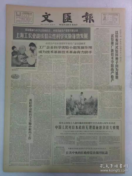 《文汇报》第6241号1964年11月22日老报纸