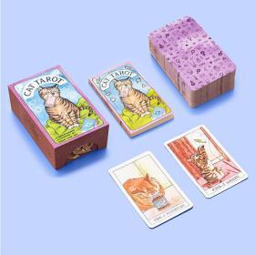 猫咪塔罗牌:78张卡片和指南 英文原版 Cat Tarot: 78 Cards and Guidebook