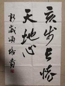 中国书协副主席书法大家学者叶培贵书法一幅(保真)
