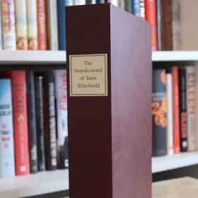 The Benedictional of St. Æthelwold 三面刷金大英图书馆 收藏泥金画 Miniature   Folio Society复刻限量 最奢华的插画手稿 有解说别册 镀金插画 棕色山羊皮面 手工印刷 绝版