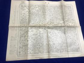 1932年出版《抚顺地图》  满洲十万分一图奉天15号 46:58cm 十万比一   大日本帝国陆地测量部编