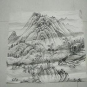 自鉴画稿,收到老国画60+60厘米保证每一笔都是手绘的,每一笔都是手绘。不保真,注意字画类不退