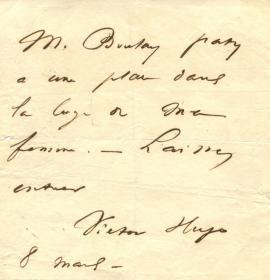 顶级大文豪 雨果 Victor Hugo 亲笔信 PSA鉴定 世界名著《悲惨世界》《巴黎圣母院》作者