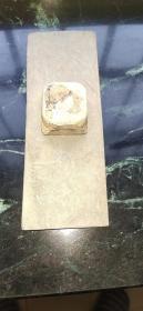 汉代砚台、研磨器、石质细腻、造型精美、砚板小磨损