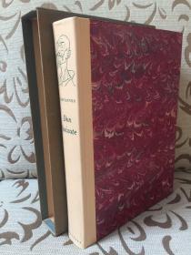 Don Quixote by Miguel Cervantes - 塞万提斯《堂吉诃德》Heritage press 出品 John Ormsby英译 Edy Legrand插画  双排注释版 超大开本 极厚重