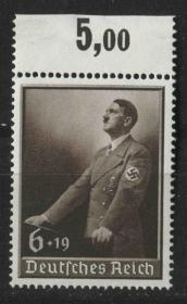 德国邮票 第三帝国 1939年 希特勒演讲 1全新