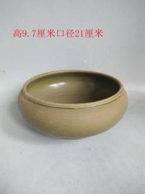 清代传世茶叶末色釉瓷笔洗