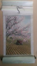 """上世纪六七十年代-杭州都锦生丝织厂出品""""春满大地""""卷轴织锦画"""