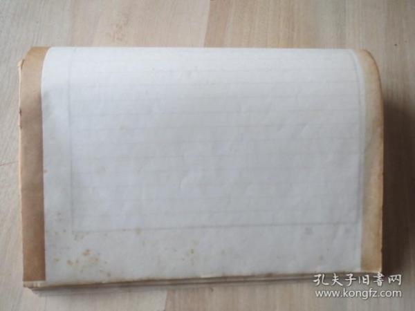 民国时期陆军专用签纸60张    八开 36*25厘米