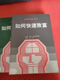成功丛书: 理想的人生、 成功不求人、 如何快速致富、如何实现心愿 【全4册】盒装