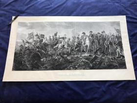 ★大英博物馆藏画★1813年巨幅铜版画《奥斯特里茨战役》《三皇之战》—法国新古典主义画家弗朗索瓦·热拉尔(Baron Gérard,1770 - 1837年)作品 103.6*57.6厘米