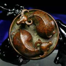 老纯铜紫铜实心铜手工制作扭(牛)转乾坤茶宠,风水小摆件 纯紫铜扭转乾坤摆件