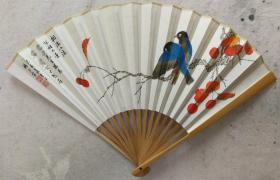 成扇017:杨正霖画扇、南伍书法(已售)