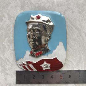 红色纪念收藏文革时期毛主席像章胸针徽章包老物件真正品八角帽