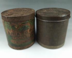 民国大东烟草公司.50年代国营上海烟草公司金属老烟盒2个