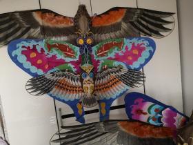 一口价手绘立风筝,大鹰长1米60,蝴蝶长1米16,猫头鹰长96㎝,打包卖,顺丰到付。