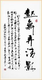 【保真】知名书法家杨向道(道不远人)精品力作:苏轼《水调歌头》