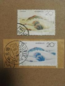 1994-4沙漠绿化(4-12)特种邮票(信销票2枚合售,无锡戳清晰)多图实拍保真