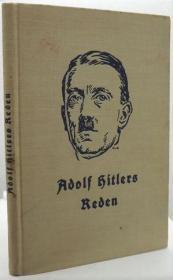 稀缺,《 希特勒的演讲 》1934 年出版,精装