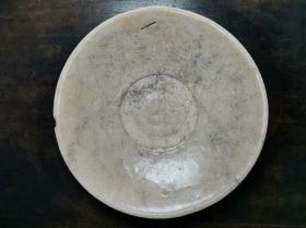 宋代时期青白釉瓷器暗刻海水纹浅腹碗