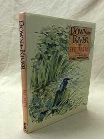 Partington水彩画插图版:Down the River  1987大开本布面精装带书衣,43幅水彩插图,精美绝伦.