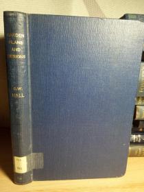 有藏书票 1947年布面精装初版21.5*15cm 含大量的图纸 GARDEN PLANS AND DESIGNS BY GEORGE W.HALL