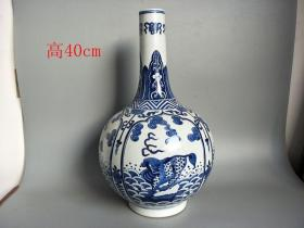 乡下收的大清青花瓷瓷瓶
