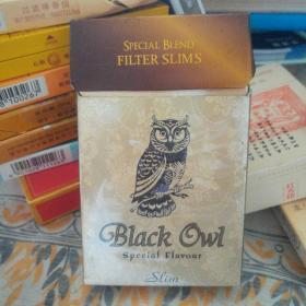 BLACK OWL黑猫头鹰牌香烟  烟盒