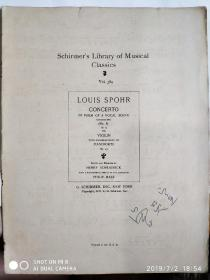 (Schirmers Library of Musical Classics, Vol. 389)Louis spohr concerto