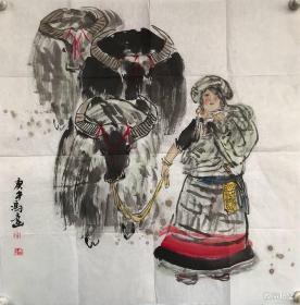 冯远  纯手绘 国画【卖家包邮】 工艺品