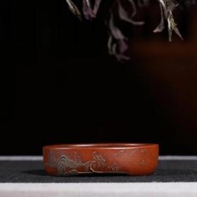 台湾回流 宜兴老紫砂一厂 精品花盆 文革时期花盆老物件特价