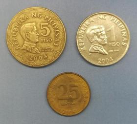 菲律宾流通硬币3枚