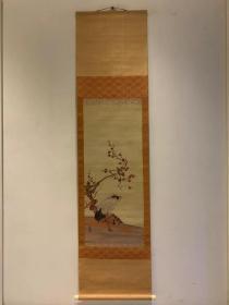《刺绣仙鹤》老字画清代民国名人书画茶室客厅古画山水花鸟人物