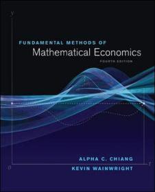 现货 Fundamental Methods of Mathematical Economics  英文原版 数理经济学的基本方法(第4版)