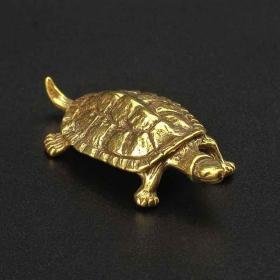 铜器铜龟摆件长5.5厘米