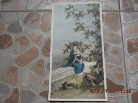 约 三十年代 北平 源记照相馆 天主教画家 陈路加(陈缘督) 敬绘 手工着色 《 圣母子 》照片一张! 尺寸较大,精美绝伦!